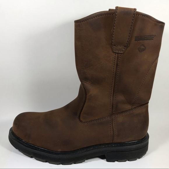 "50f7ecb5d03 Wolverine Wellington 10"" Work Boots Men's 8.5 EH"